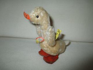 Hübsche Plüsch - Ente Der Marke Steiff 60er Jahre Bild