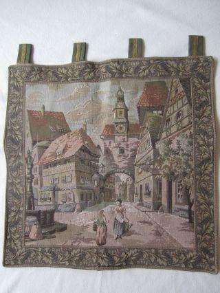 Kleiner Gobelin - Wandteppich Ca.  57 X 56 Cm Bild