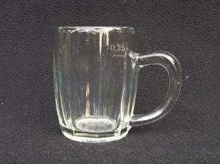 Altes Henkelglas Pressglas Klar Radeberg Bierseidel 0,  25 L 1930 /dn113 Bild