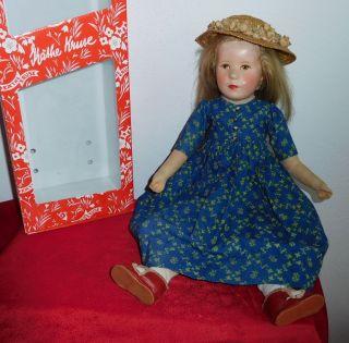 50 Cm KÄthe Kruse Puppe Viii - Das Grosse Deutsche Kind - Um 1955 Bild
