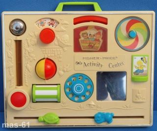 Fisher Price Activity Center Baby Flipper Vintage Bild