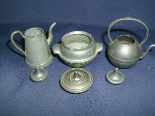 Miniatur Kessel,  Kanne,  Topf Aus Zinn Für Puppenküche/puppenstube/setzkasten Bild