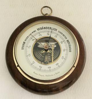 Altes Barometer Wettergerät Von Franz Dupre,  Mülheim Ruhr Bild