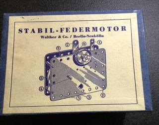 Federmotor Stabil Metallbaukasten Federwerk Walther & Co Berlin - Neukölln Bild