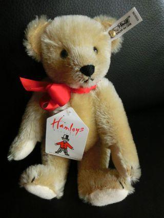 Steiff Teddy Für Hamleys Toyshop London 1988 K/f/s 26 Cm Ean 0163/26 Bild