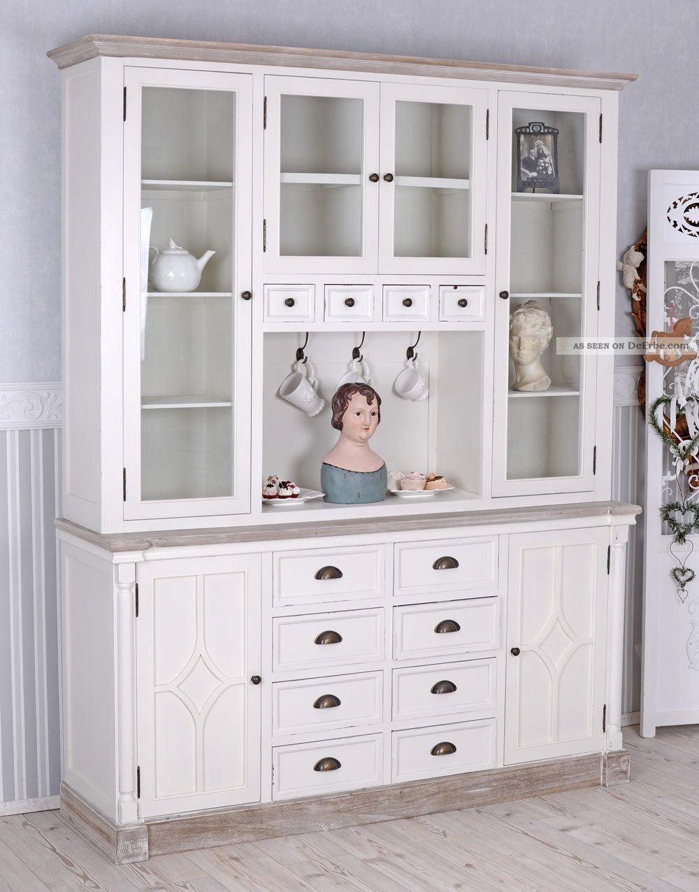 k 252 chenbuffet buffet weiss k 252 chenschrank vitrine b ware. Black Bedroom Furniture Sets. Home Design Ideas