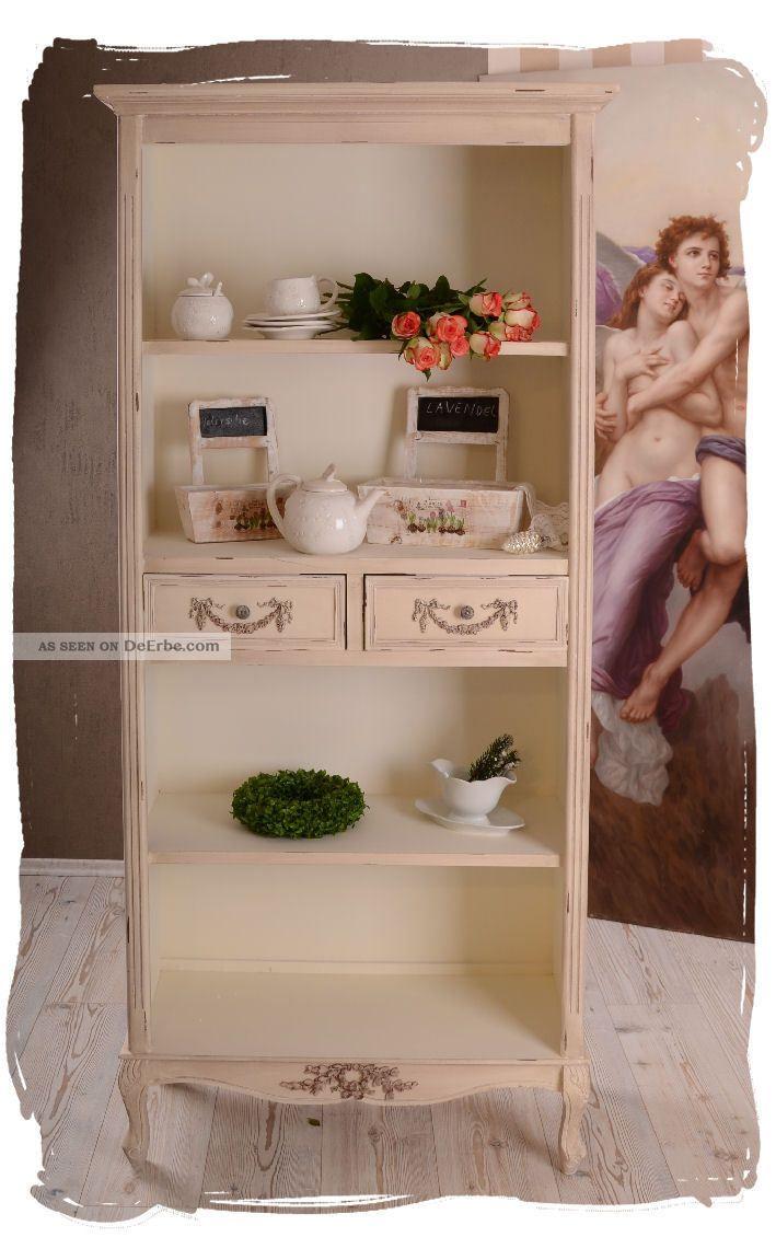 Bücherregal weiß antik  Vintage Regal BÜcherregal Antik Weiss Küchenregal Shabby Chic