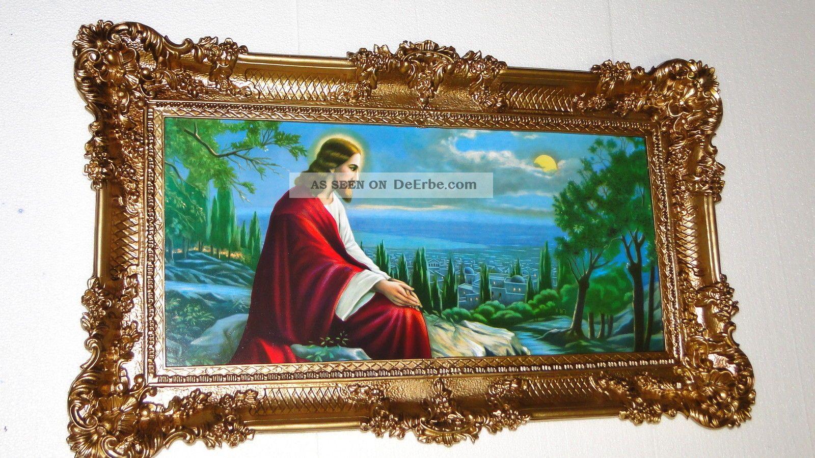 bilderrahmen jesus in jerusalem 97x58 jesus bilder mit rahmen ikone italien. Black Bedroom Furniture Sets. Home Design Ideas