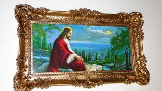 Bilderrahmen Jesus In Jerusalem 97x58 Jesus Bilder Mit Rahmen Ikone Italien Bild