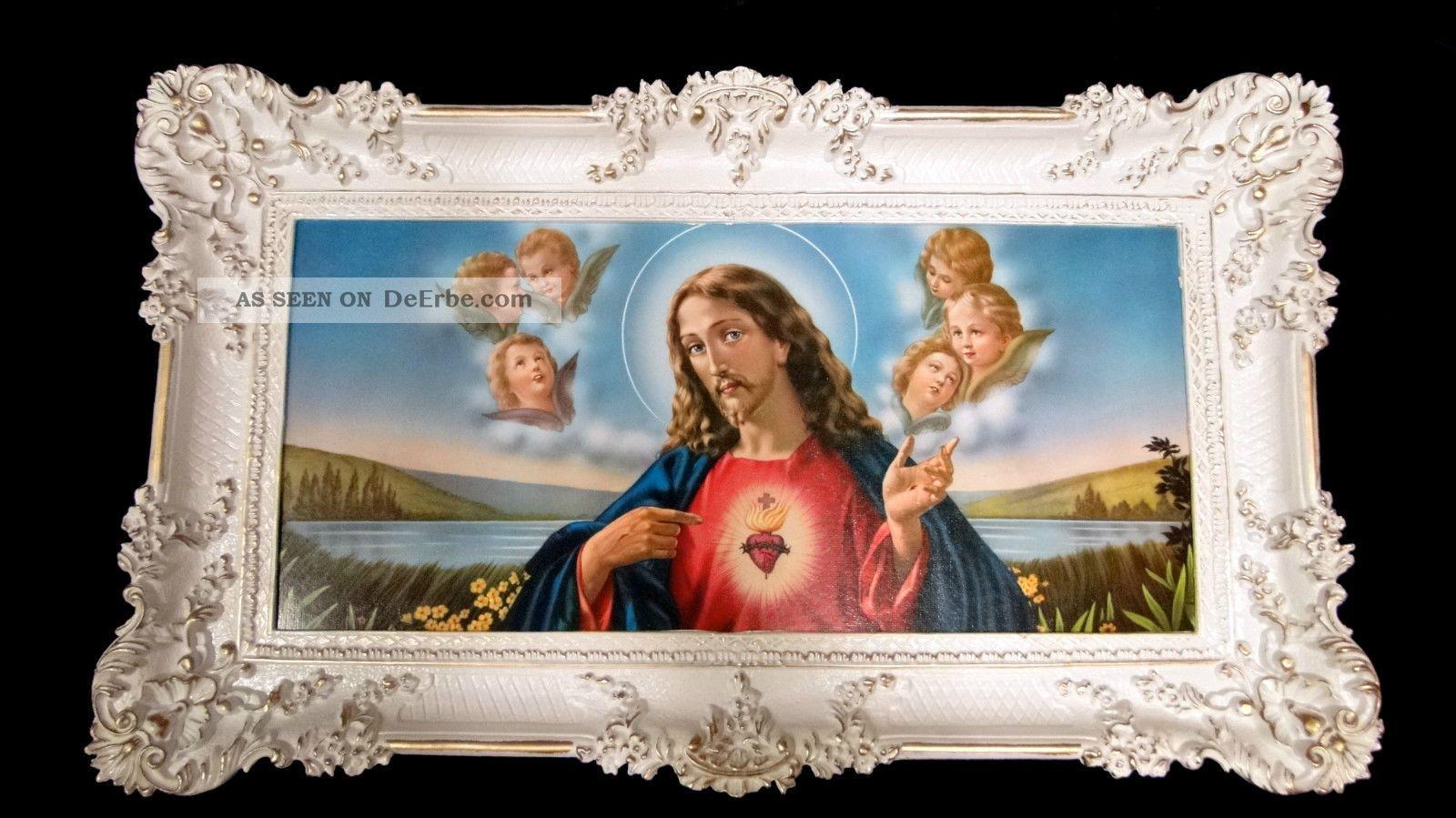 Bilderrahmen Jesus In Jerusalem 97x58 Jesus Bilder Mit Rahmen Ikone ...