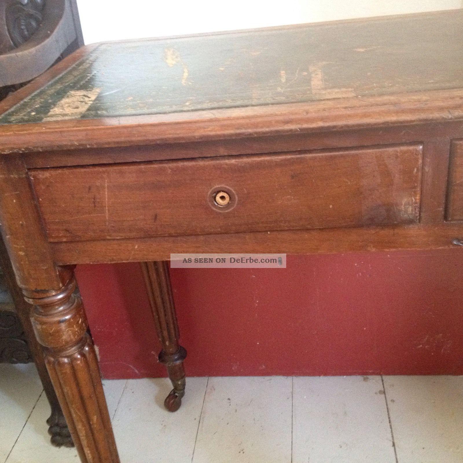 Schreibtisch antik london 1850 georgianisch mahagoni for Schreibtisch antik
