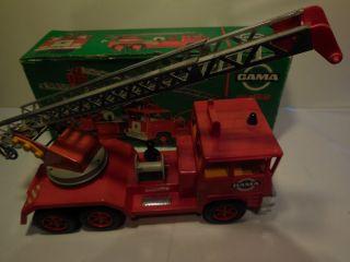 Große Gama Spielzeug - Feuerwehr Mit Ausziehbarer Leiter,  Neuwertig,  Ovp Bild