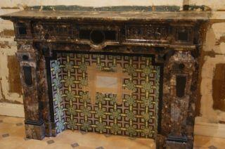 Kamin Braunschwarzer Marmor Aus Schloss Antik über 100 Jahre Alt Bild