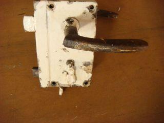Antikes Kastenschloß Türschloß Türklinken Eisen Zimmertür Bild