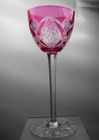 Jugendstil: Römer Kristall Weinglas Pink Glas Baccarat Top Bild
