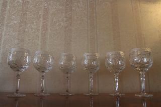6 Römer Kristallgläser Rotwein Wein Glas 24 Bleikristall In Ovp Bild