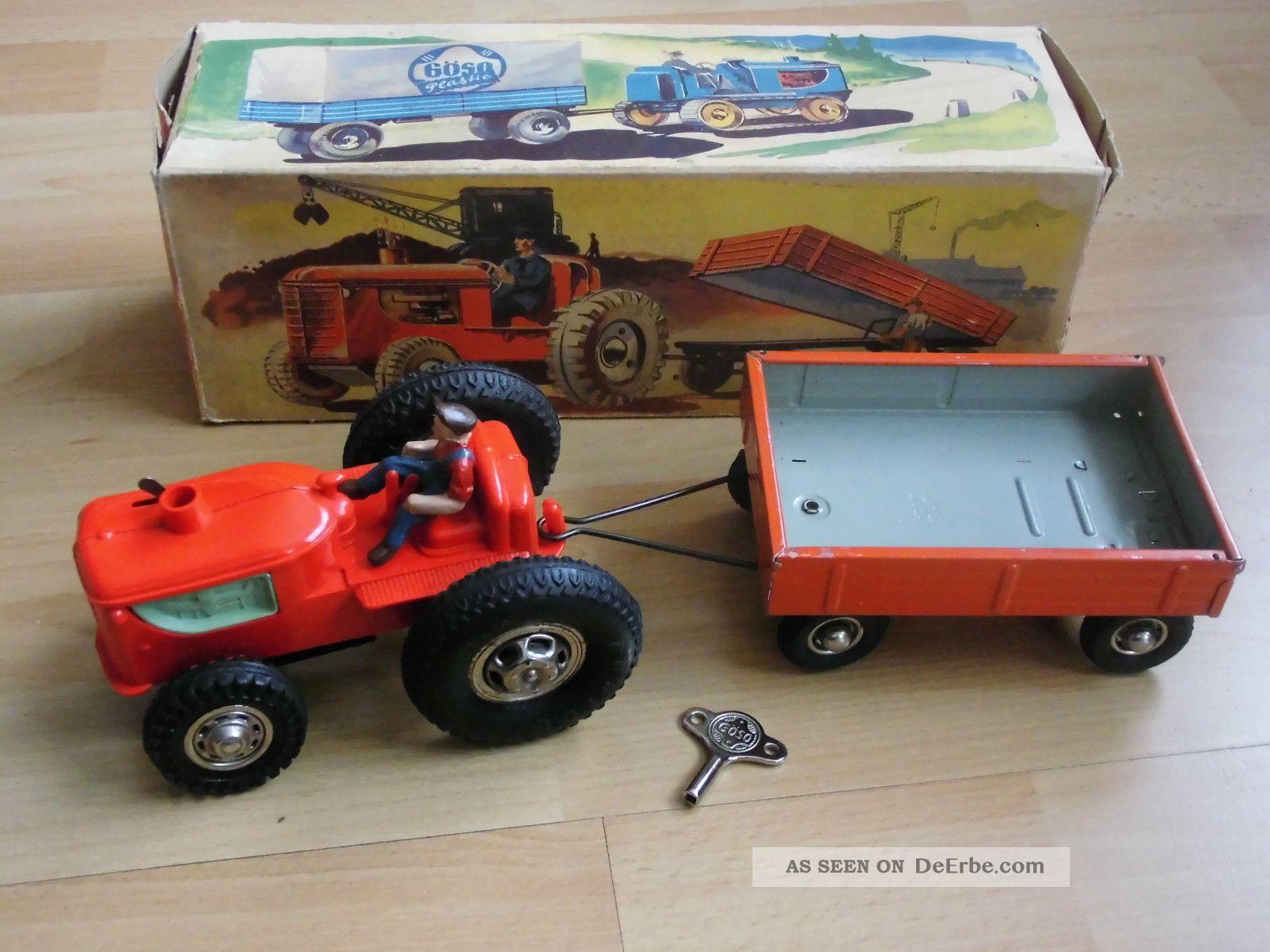blechspielzeug g so traktor mit h nger im ok nahezu neuwertig. Black Bedroom Furniture Sets. Home Design Ideas