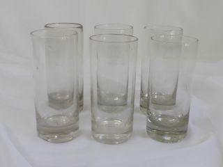 Becher Bierglas Wasserglas,  Seltener 6er Satz,  Eichmarke 0,  4 L,  Abriß,  1910 Bild