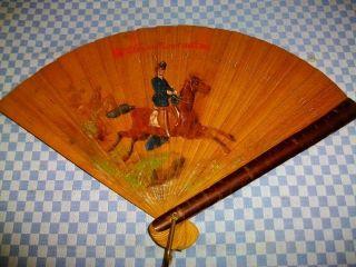 Antiker Fächer - Kolonialzeit - Sammlerstück Um 1877 - Haselnuss Bild