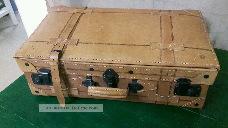 Vintage Lederkoffer Oldtimer Koffer Koffer Accessoires Bild