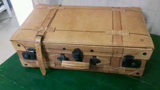 Vintage Lederkoffer Oldtimer Koffer Koffer Bild