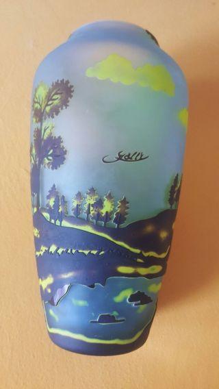 Wunderschöne Große Vase - Ca.  31 Cm - Galle Signiert Bild