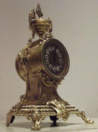 Bronze Kaminuhr Carteluhr Alt Napoleon Löwentatzen Empire - Stil Mit Wasserspeier Bild