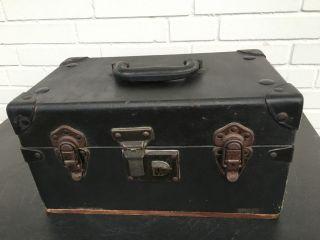 Alter Koffer Usa Eagle Lock Co.  Truhenkoffer Necessairekoffer Bild