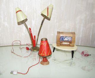 Rarität: Radio/ Fernseher?,  Tütenstehlampe,  Nierentisch,  Tischlampe Beleuchtung Bild