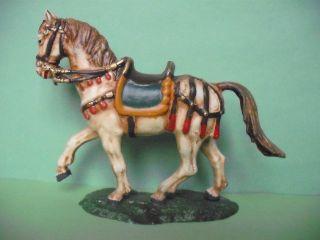 Elastolin Landsknecht - Römerpferd In Antik - Weiß,  7 Cm Bild