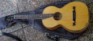 Salon Gitarre Musik Union Hugo Löwin Romantikgitarre Palor Guitar Dachbodenfund Bild