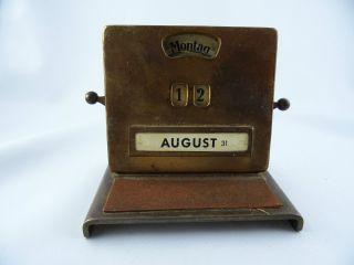 Ewiger Kalender Büro Schreibtisch Drehzahlen Metall Jacob Maul Bild