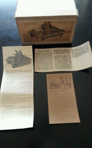Gama Panzer Karton Mit Beschreibungen Bild
