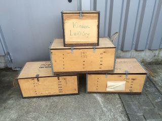 4 Alte Holzkisten / Verpackungskisten Mallory Aus Alten Tagen Bild