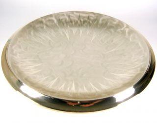 Wmf Metall Schale Ikora 30er Jahre Design Versilbert Silver - Plated Bowl 33cm Bild