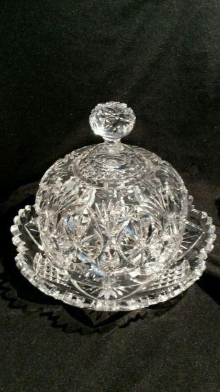 Antike Bleikristall Käseglocke Butter Glocke Traumhaft - Cloche à Fromage Bild