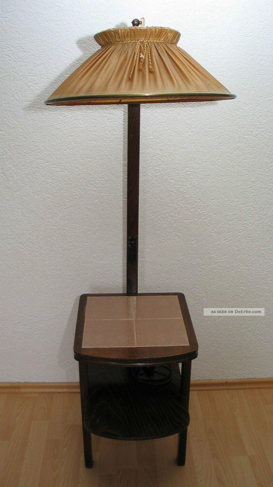 alte stehlampe mit integr tisch 50er jahre aus familienbesitz. Black Bedroom Furniture Sets. Home Design Ideas