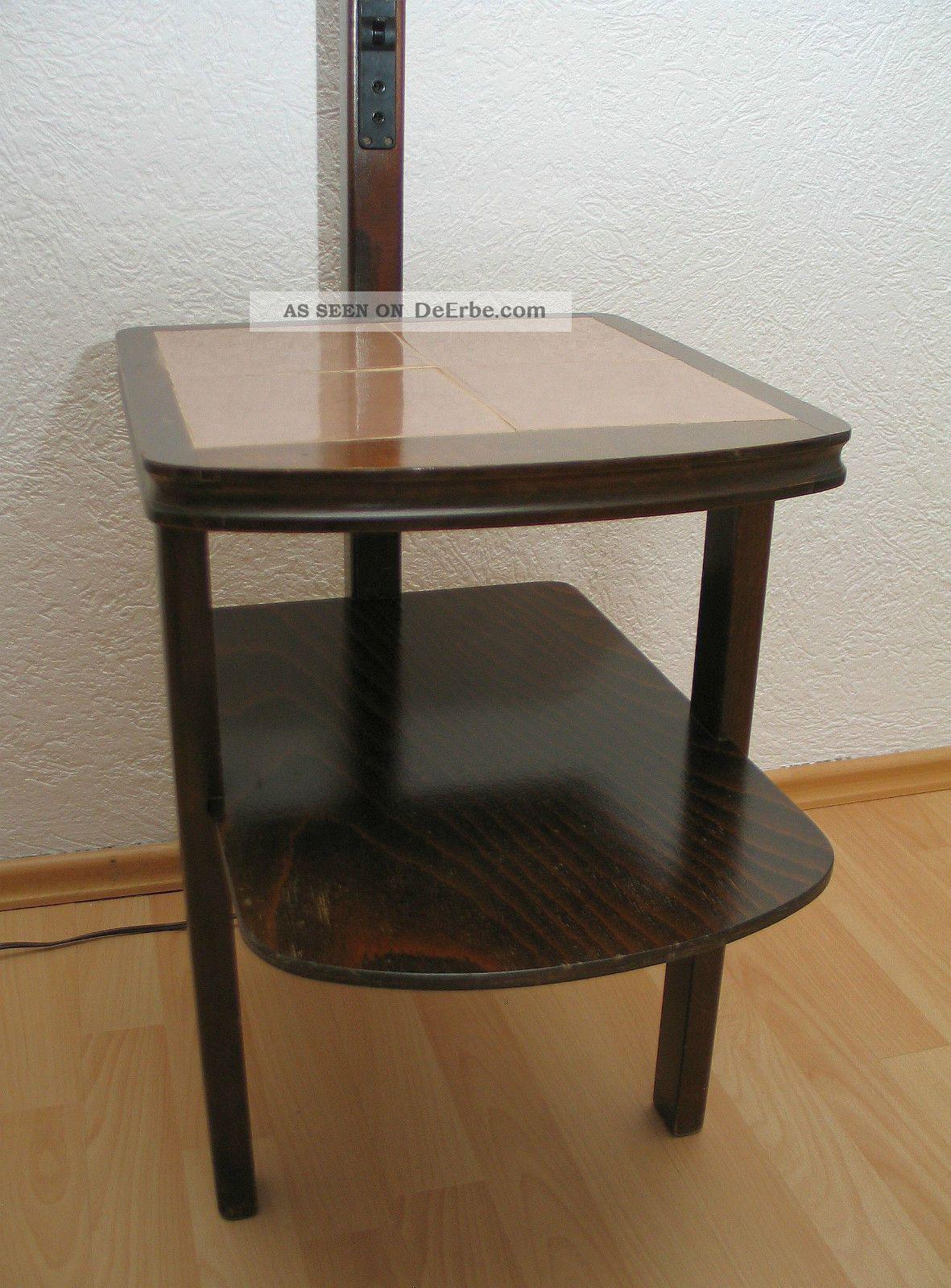 Alte stehlampe mit integr tisch 50er jahre aus for Tisch 50er design