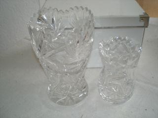 Blei Kristall Vasen 2 Stk. Bild