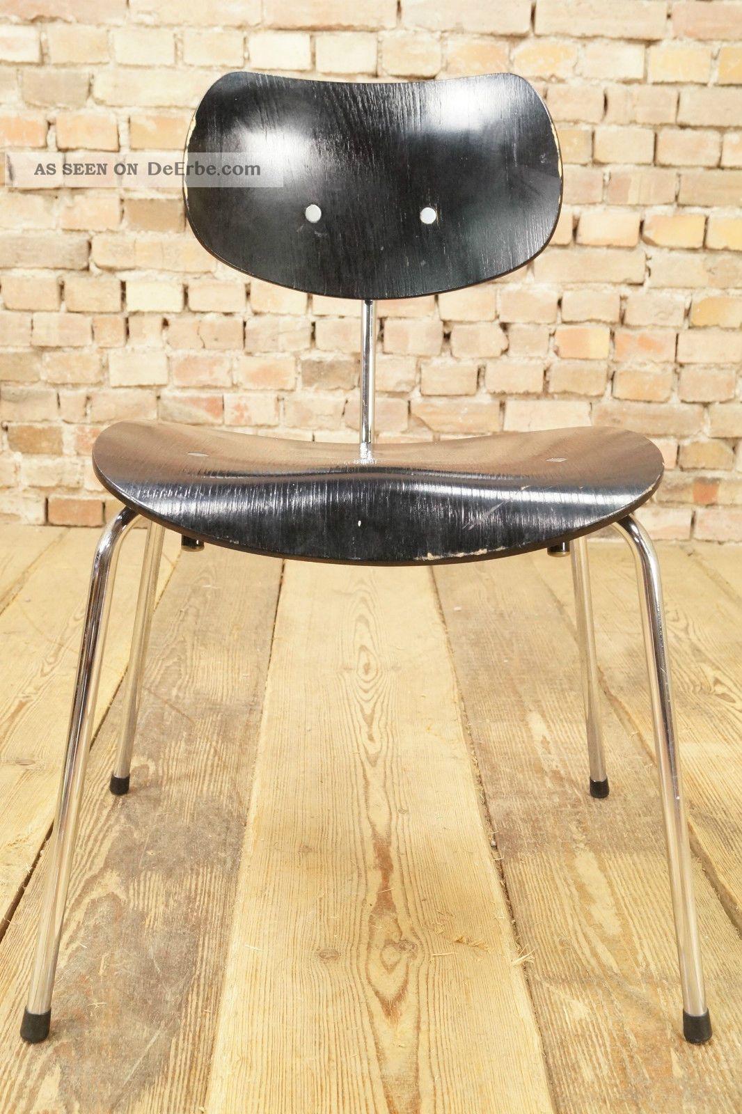 60er Se 68 Egon Eiermann Stuhl Wilde & Spieth Ws Chrom Chair Mid Century 70s