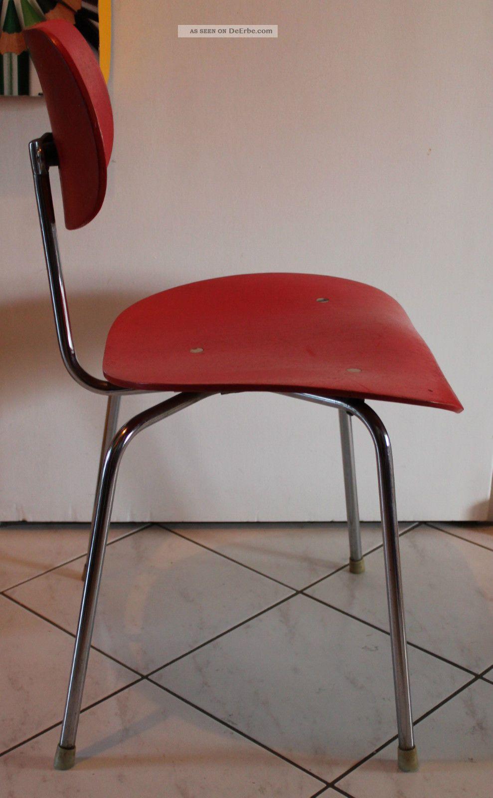 60er Egon Eiermann Se 68 Stuhl Chair Wilde Spieth Vintage 60s Rot Mid Century