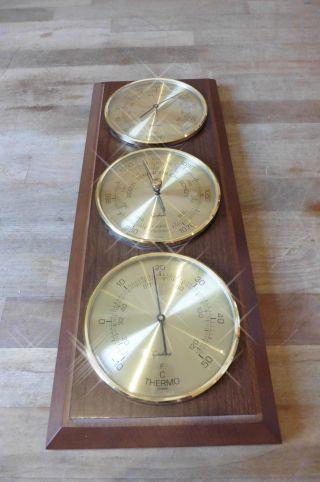 Alte Wetterstation Barometer,  Thermometer Und Hygrometer Von Gischard Bild