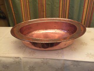 Große Ovale Alte Schale Wohl Barbier.  Kupfer Persisch/islamisch ? Tolles Teil Bild