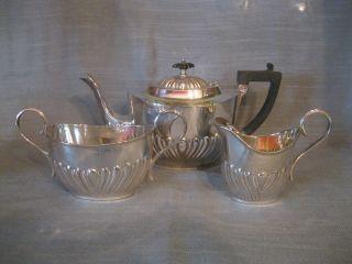 Teeservice,  3 Teile,  Silver Plated,  Deykin & Sons,  Birmingham,  Um 1900 Bild
