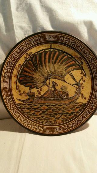 Wandteller Griechisch Ceramic - Period 530 B.  C.  Real Copy Plac Figure Classic Bild