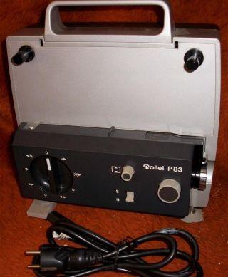Rollei P - 83 8 Filmprojektor Regelbare Filmgeschwindigkeit Bild