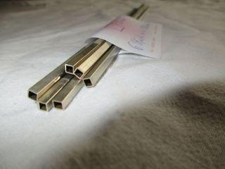 Vierkantrohr Scharnierrohr 935er Silber,  6 Stück á 20 Cm,  3 Mm Bild