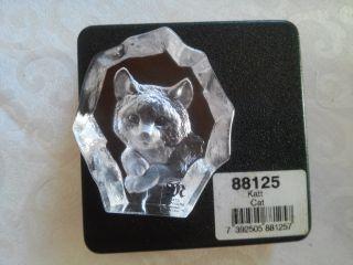 Mats Jonasson Kristallglas Miniature Kitten Bild