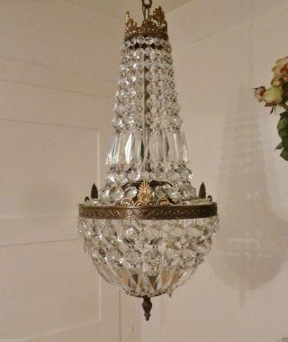 KorblÜster Art Nouveau Kristall Bronze Kronleuchter Frankreich Empire Bild