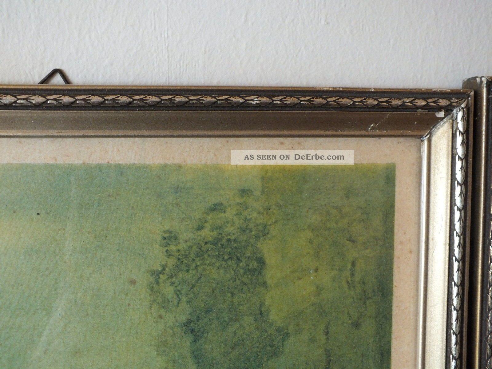 2 wundersch ne alte bilderrahmen stuck mit alten drucken um 1930 o lter. Black Bedroom Furniture Sets. Home Design Ideas